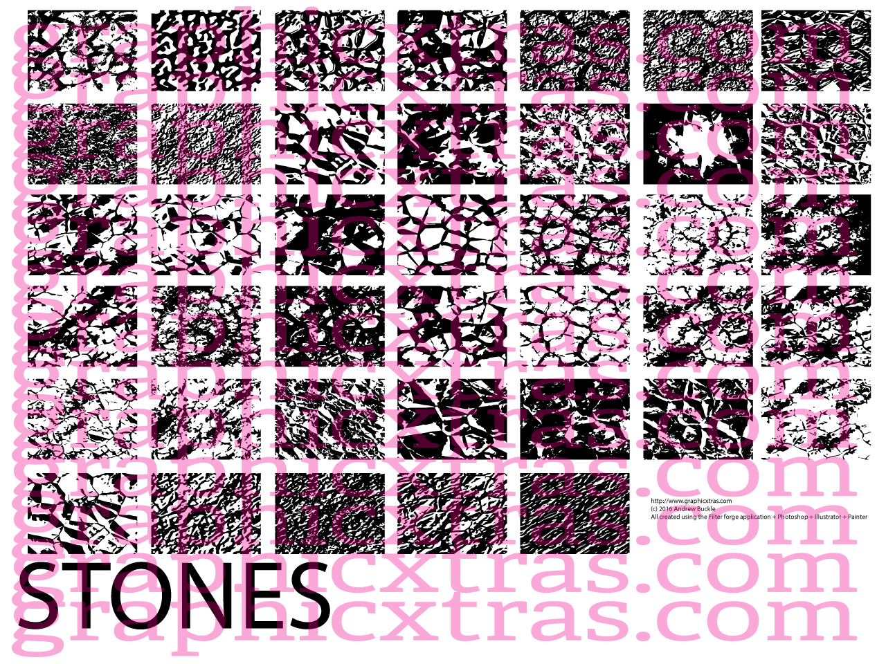 Stones rock brushes royalty free buy 450 40 stones rock textures baditri Images